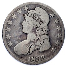1833 50C Bust Half Dollar Good Condition, Gray Color, Full Clean Liberty - $69.29