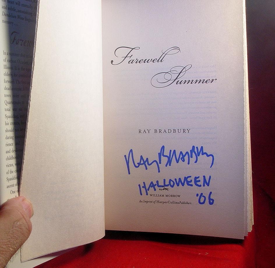 Ray Bradbury HALLOWEEN SUMMER 1st, as new, hardback, SIGNED on HALLOWEEN - Rare