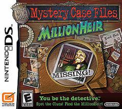 Mystery Case Files: MillionHeir  (Nintendo DS, 2008) - $4.00