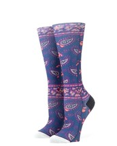 STANCE Girls Melanie Paisley Blue Tall Boot Height Socks Youth Size L(2-... - $9.89