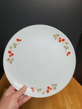 Noritake Casual China Berry Time Dinner Plate White Red Strawberries - $7.87