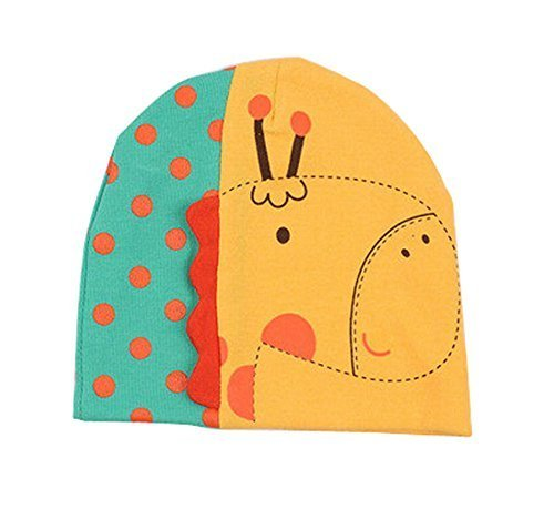 Hot Baby Warm Hat Cap Cute Giraffe 3D Baby Cotton Hats Yellow, 3-24 Months