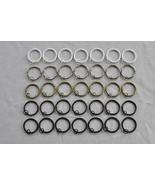 "Urbanest Metal Curtain Drapery Rings with Eyelets,1 1/2"" Inner Diameter ... - $7.50"