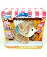 New Little Live Pets My Kissing Puppy Rollie Plush Fuzzy Brown Dog 25+ Sounds - $48.33