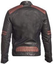 Mens Retro Powerhorse Moto Rider Cafe Racer Black Biker Leather Jacket image 4