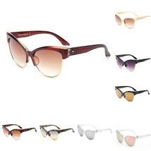 New Women Sunglasses Cat Eye Retro Sexy Metal Half Frame Wrap Plastic Su... - $26.37