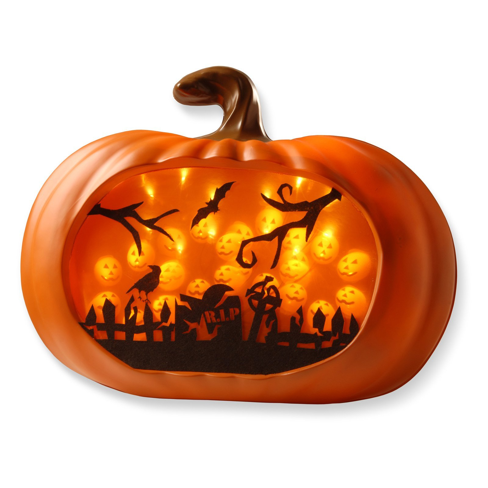 Halloween Pumpkin Party Decoration LED Lighted 3D Wall Decor Autumn Holiday Prop