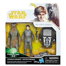 Star Wars Han Solo & Chewbacca Mimban Force Link 2.0 Action Figure 2-Pac... - $15.51