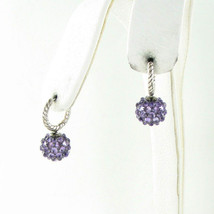 David Yurman Osetra Drop Earrings Dangles 26mm Amethyst Sterling Silver $1600 - $1,091.25
