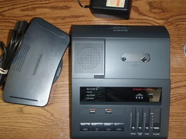 Sony BM87 standard cassette transcriber with foot pedal, AC adapter & wa... - $199.99