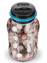 Digital Coin Money Counting Jar Savings Piggy Bank Money Vault - $18.99