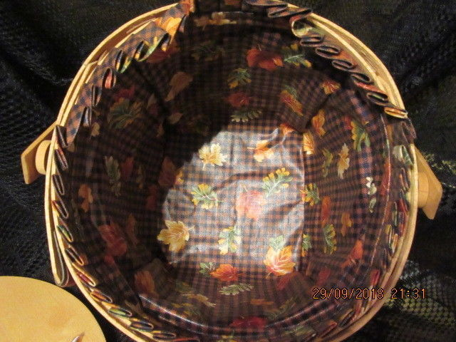 "LONGABERGER  BASKETS 1996 ""MAPLE LEAF"" COMBO BASKET SET RETIRED"