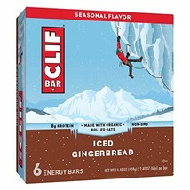 CLIF Bar Iced Gingerbread Energy Bars, made with organic rolled oats 8.8... - $12.99