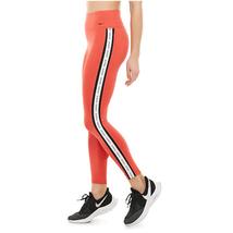 Nike Women's One Logo Stripe Leggings, Track Red/ Black, S - $37.80
