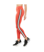 Nike Women's One Logo Stripe Leggings, Track Red/ Black, S - $37.80