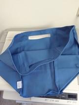 Longaberger Medium Oval Waste Basket Cornflower Blue Fabric Over Edge Liner - $15.79