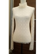 Free People Fire Opal Long Sleeves Lace Top     Size S'       NWT  - $33.66