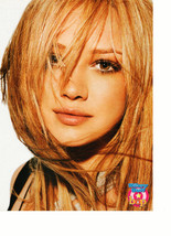 Hilary Duff Usher teen magazine pinup clipping hair in her face