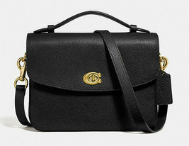 Coach Cassie Leather Crossbody Satchel Messenger ~NWT~ Black 68348 - $371.25