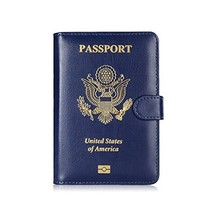 Maxjoy Leather Passport Holder Cover - RFID Blocking Travel Passport Wal... - $10.25