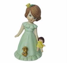 Growing up Girls figurine Enesco birthday gift vtg sculpture Three 3 yea... - $23.71