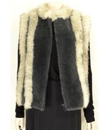 Lambswool Trader Rocks vest  L wool shearling charcoal natural off-white... - $158.39