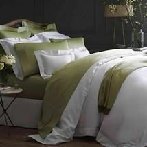 Sferra Elyse Green King Sheet Set Chartreuse 100% Egyptian Cotton Sateen Italy - $445.00