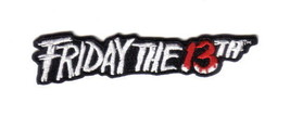 Friday The 13th Movie Name Logo Embroidered Patch, NEW UNUSED - $7.84
