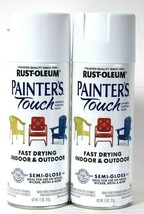 2 Rust-Oleum 11 Oz Painter's Touch General Purpose 318517 Semi Gloss Whi... - $21.99