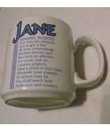 "Jane Name Meaning ""TALENTED"" Poem byn Marci G. Coffee Collectible Name M... - $13.59"