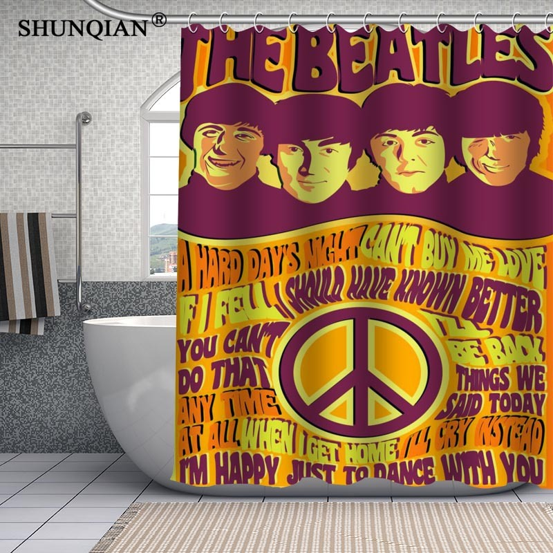 Primary image for The Beatles Waterproof Custom Shower Curtain Latest Fashion Bathroom Decor fabri