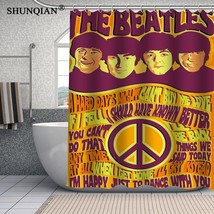 The Beatles Waterproof Custom Shower Curtain Latest Fashion Bathroom Dec... - $45.61
