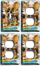 African Safari Jungle Animals 1 Light 3 Switch Outlet Wall Plates Nursery Decor - $35.09