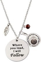 Gilmore Girls Charm Necklace Where You Lead I Will Follow Mother Daughter - $43.06