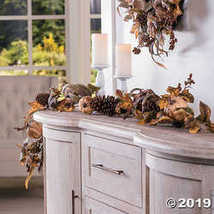 Fun Express Gilded Harvest Floral Garland - $24.99