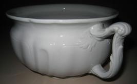 ORIGINAL Wood & Son ENGLAND Royal Patent Ironstone WHITE Chamber Pot VIN... - $69.99