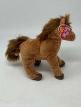 """TY Beanie Babies Plush 2.0 Saddle the Horse Unused Code 6"""" Long Stuffed ... - $14.85"""