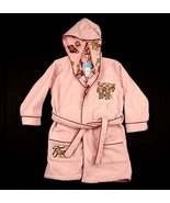 Nick & Nora Sleepwear Pink Sock Monkey Hooded Robe 2T - $10.99