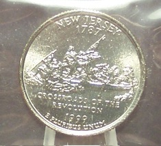 1999-P New Jersey State Quarter BU in the Cello #0715 - $2.39