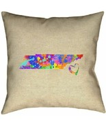 Throw Pillow Cover ArtVerse Katelyn Smith Tennessee Love Watercolor Pill... - $39.59