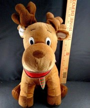 "Christmas Zipper Mouth Moose Plush Stuffed Animal Soft Reindeer sugar loaf 15"" - $12.86"