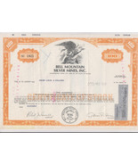 Mining Stock Certificate Bell Mountain Silver Mines. Inc  Vintage a - $9.85