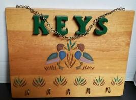 Vintage Ducks Wood Keys Wall Mount Key Rack Hanger Holder Organizer Home... - $13.52