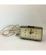 Vtg General Electric Tabletop Plug in Alarm Clock Model 7270 KA Faux Woo... - $18.69