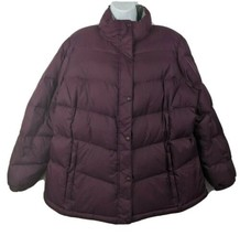 L.L. Bean Goose Down Puffer Coat Quilted Jacket Purple Size 2X Womens - $98.99