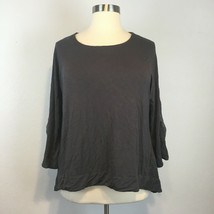 Soft & Cozy Loungewear Women's Gray Scoopneck Short Sleeve Shirt Size 1X - $25.19