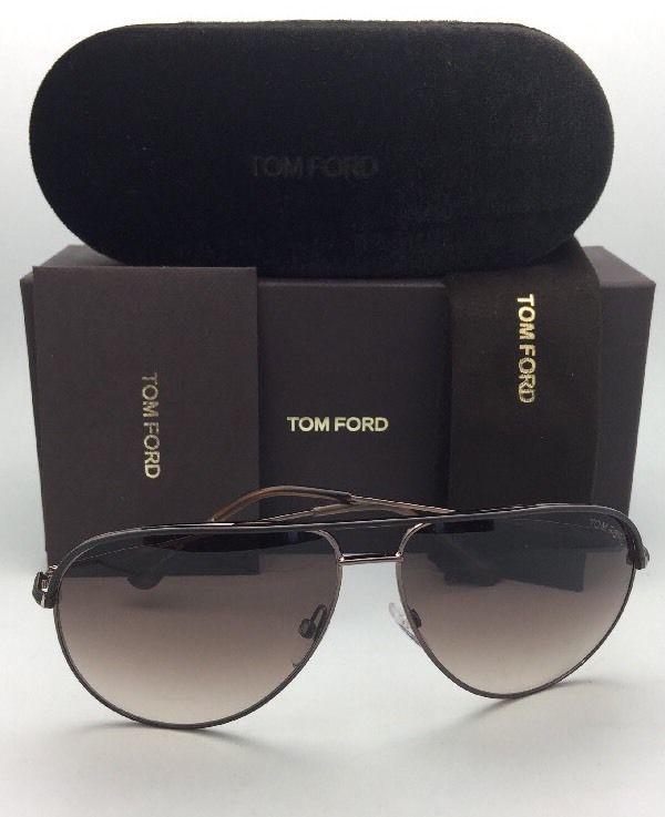 8fb3987550663 New TOM FORD Sunglasses ERIN TF 466 49E 61-12 Matte Brown Aviator w  Brown  Fade