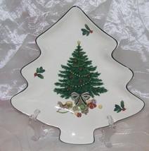 "Mikasa Heritage Christmas Story Tree Shaped Dish - Medium 8 3/4"" - CAB08... - $6.95"
