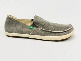 Sanuk Rounder Hobo Tx Sidewalk Surfer Shoes Mens Slip On Loafers Olive Chambray - $39.99