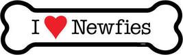 """I Heart (Love) Newfies  Dog Bone Fridge/Car Magnet  2""""x7""""  USA Made Wate... - $4.99"""